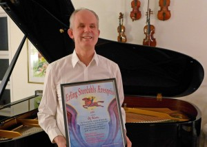 Ulf Nilsen med diplom