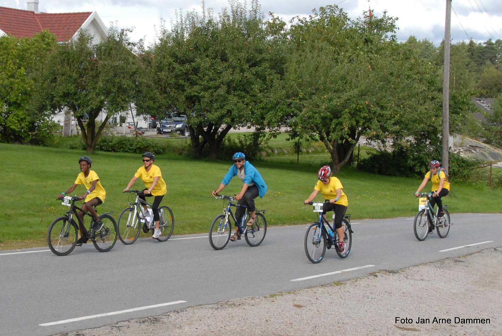 Sarpsborg Sykleklubb og Lions stilte med løypemannskap og vakter. Foto Jan Arne Dammen