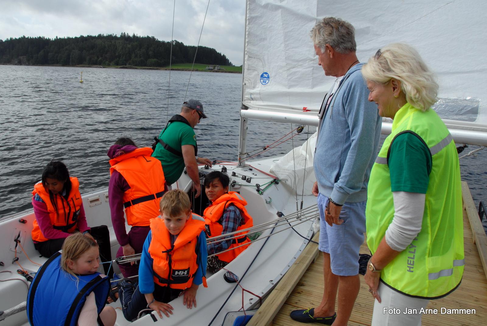 Primus motor for seilingen Steff Herbern og Diane S. Hanisch Foto Jan Arne Dammen