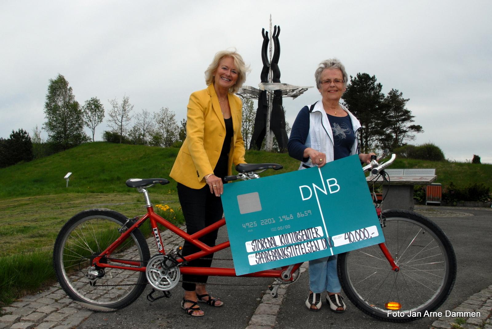 Diane S. Hanisch og Ingebjørg Guslund har bestilt nye sykler. Foto Jan Arne Dammen